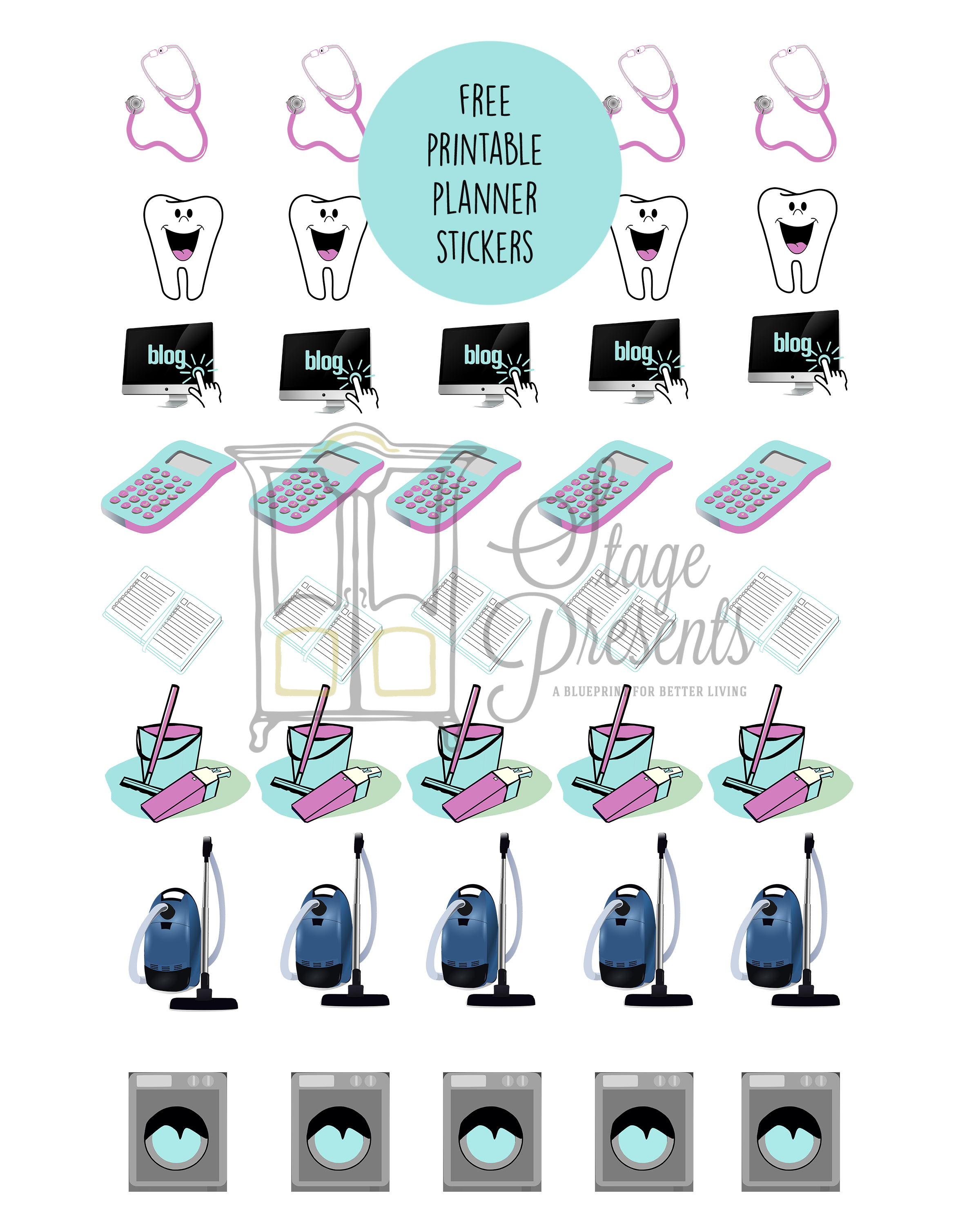Free Printable Planner Stickers for Download stage-presents.com