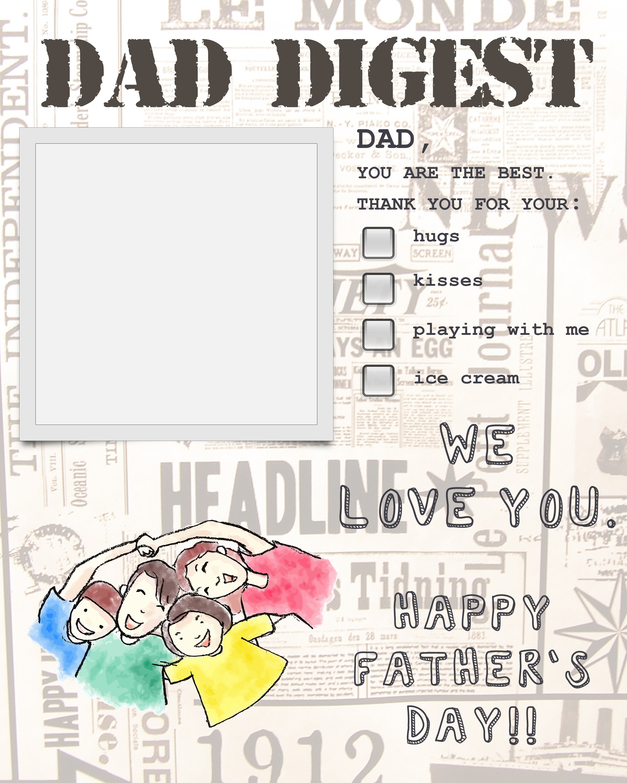 Dad Digest Blank