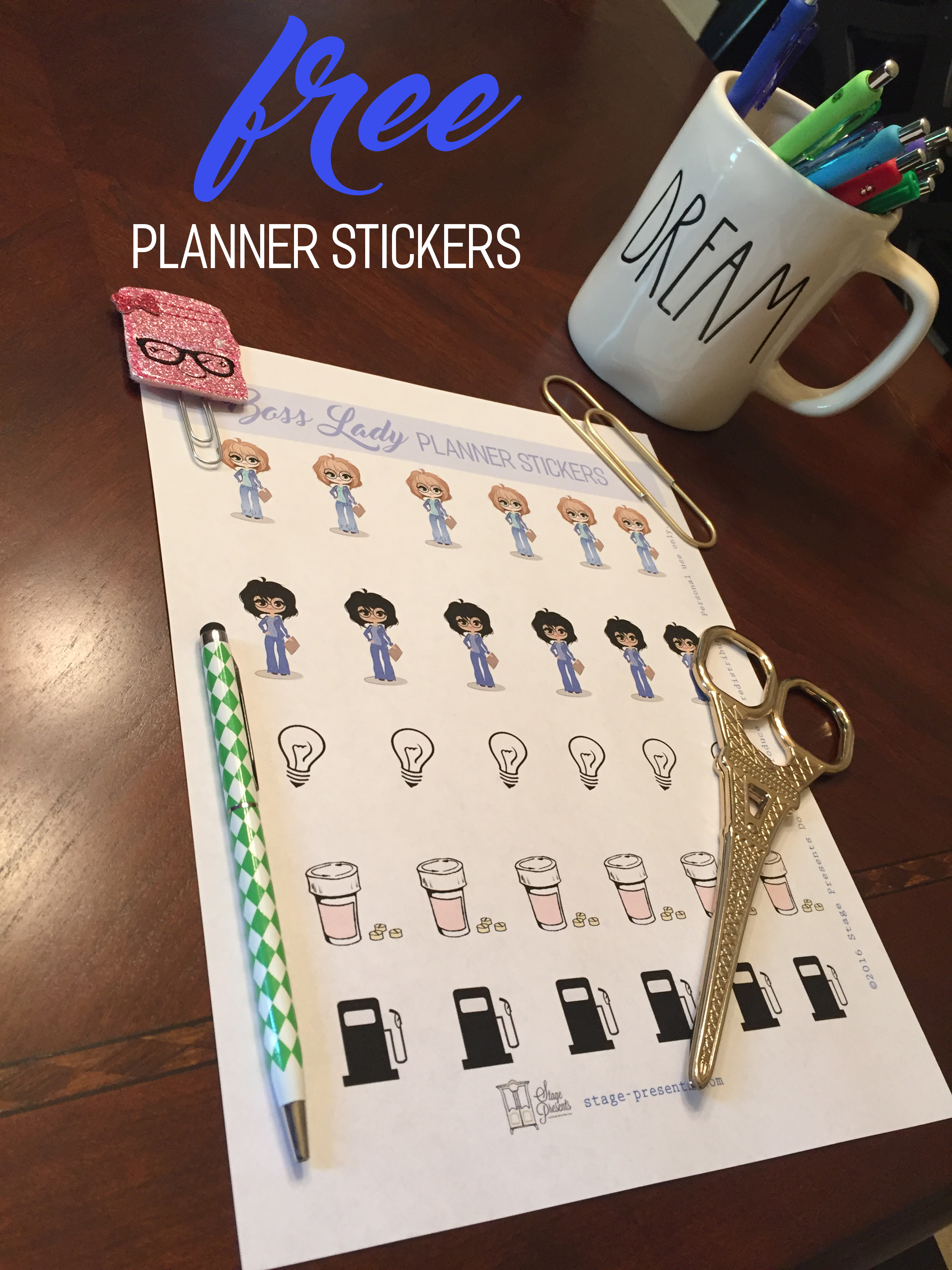 Free Boss Lady Planner Stickers found on stage-presents.com