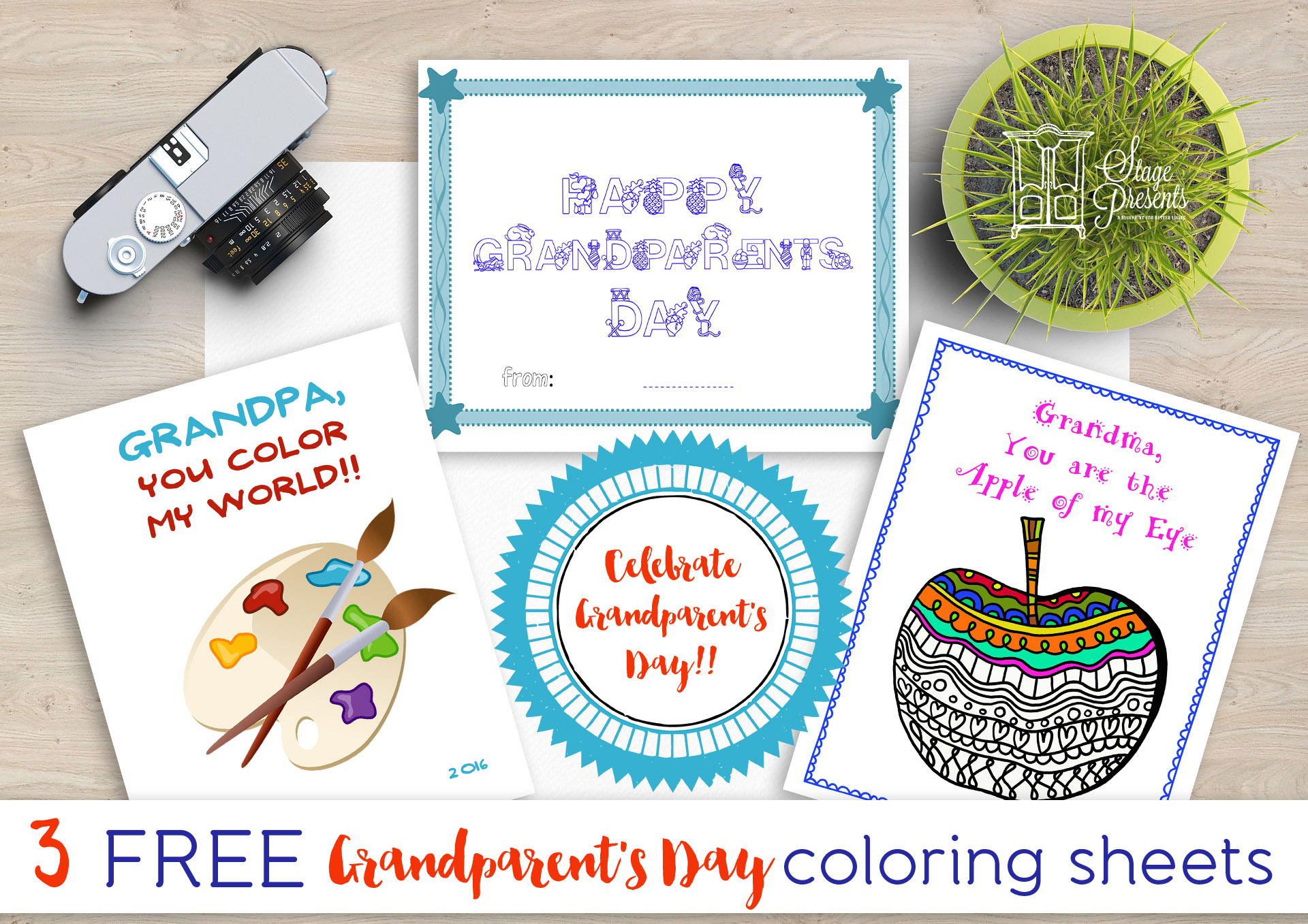 Celebrate Grandparent's Day with 3 Free Grandparent's Day Coloring Sheets - stage-presents.com