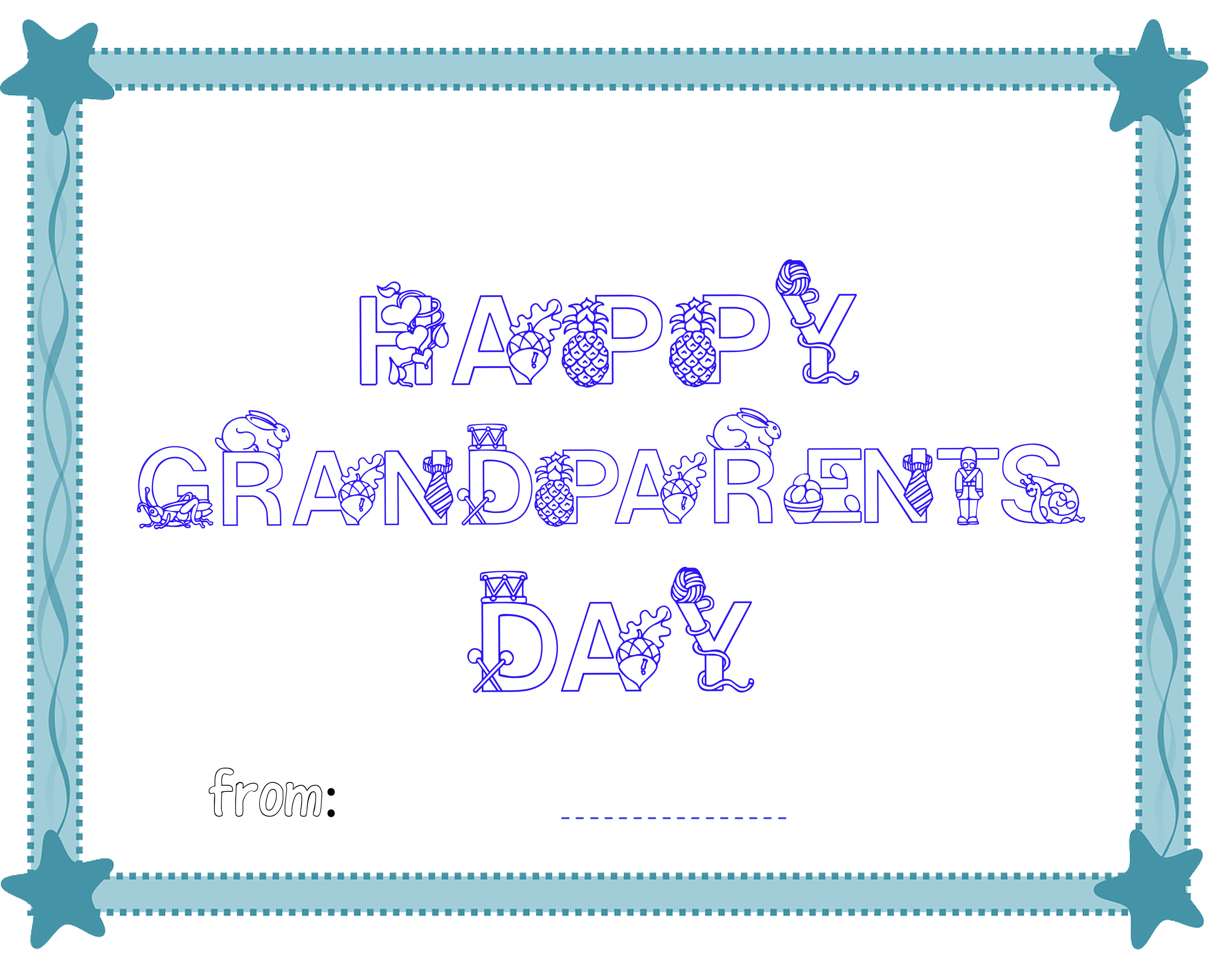 Free coloring pages grandparents day - Happy Grandparent S Day Certificate