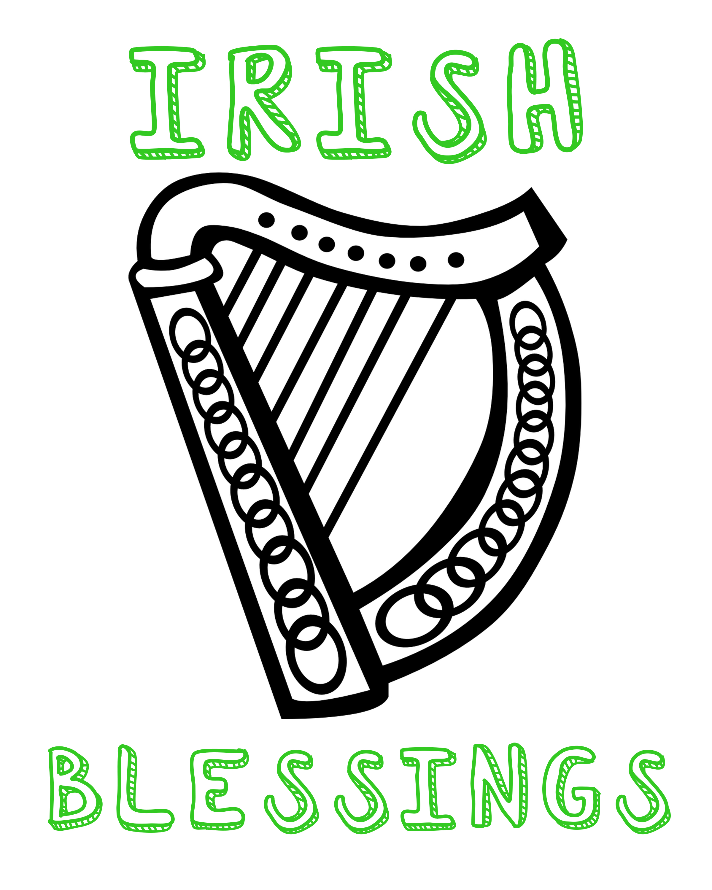 Coloring sheets archives stage presents irish blessings biocorpaavc
