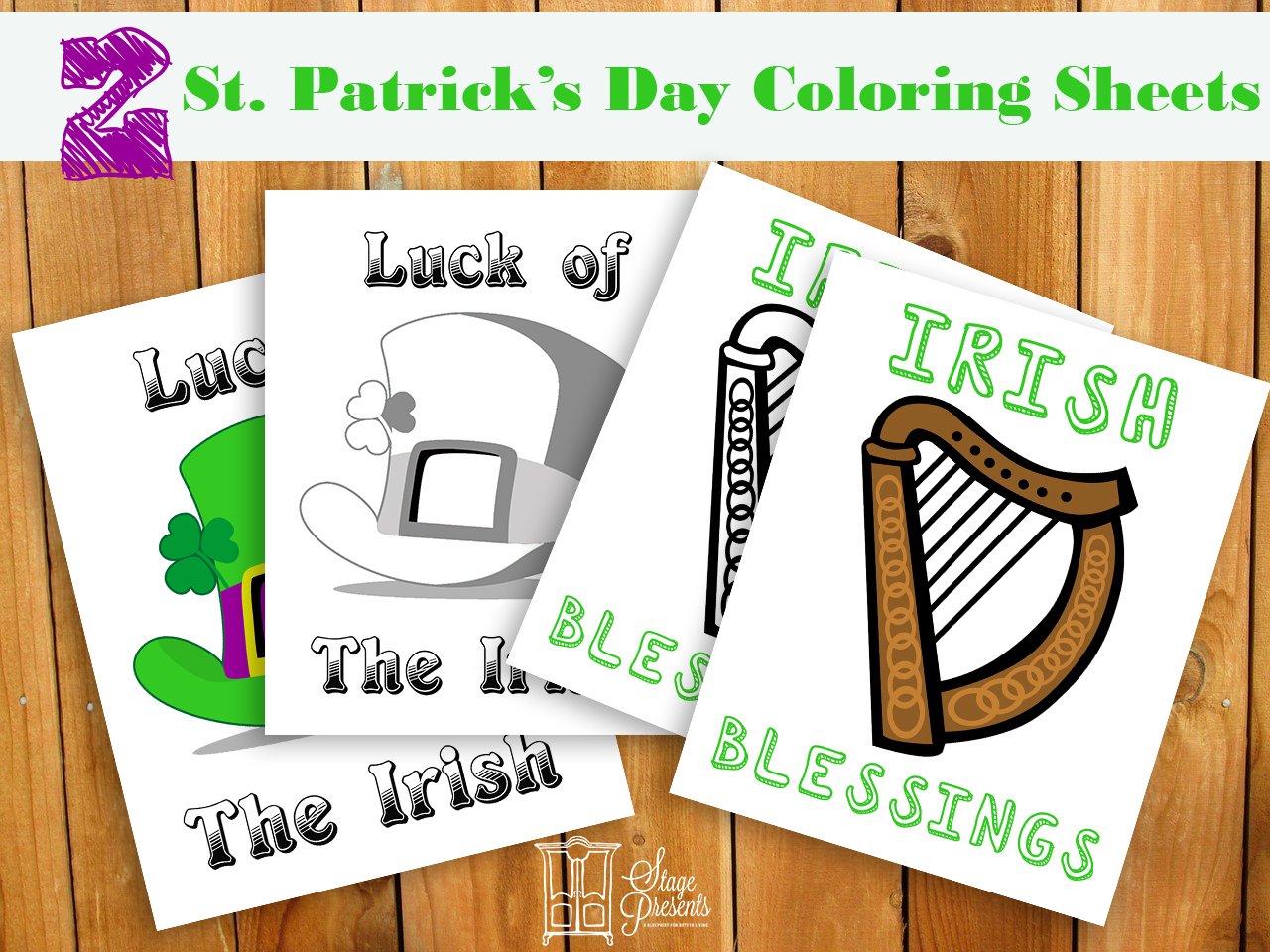 Celebrating St. Patricks Day Coloring Sheets