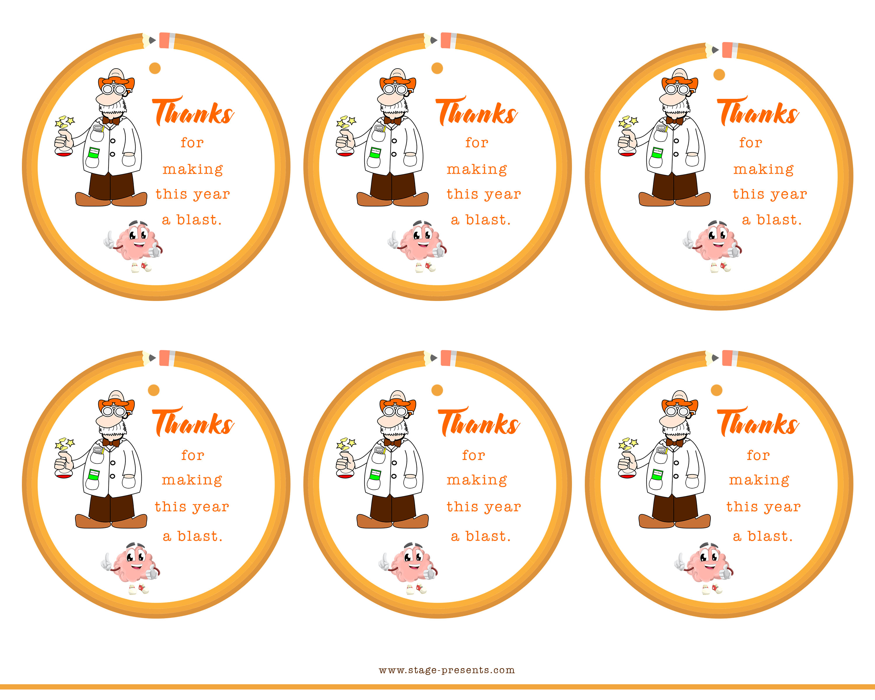 photo about Printable Teacher Appreciation Tags called Instructor Appreciation Tags Archives - Place Provides