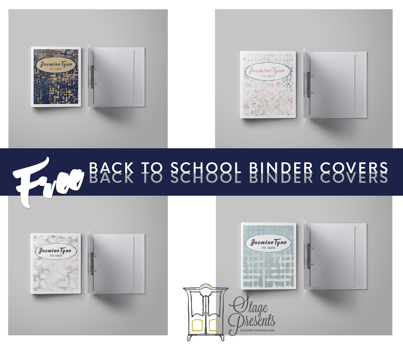 2017 Back to School Binder Covers