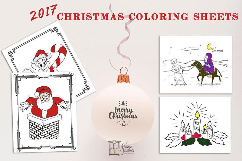 2017 Christmas Coloring Sheets